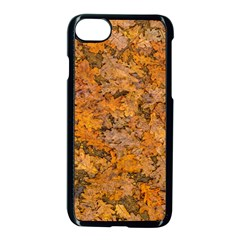 Leaves Motif Pattern Photo 2 Apple Iphone 7 Seamless Case (black)