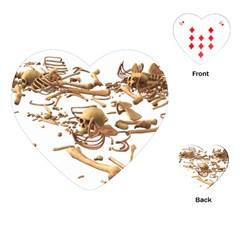 Skull Bone Skeleton Bones Playing Cards (heart)  by Sapixe