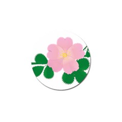 Rose Flower Briar Pink Flowers Golf Ball Marker (4 Pack)