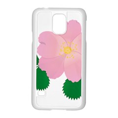 Rose Flower Briar Pink Flowers Samsung Galaxy S5 Case (white) by Sapixe