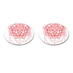 Mandala Pretty Design Pattern Cufflinks (oval)