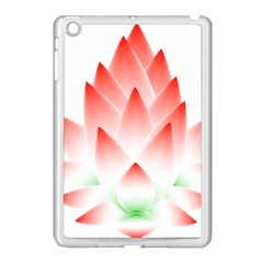 Lotus Flower Blossom Abstract Apple Ipad Mini Case (white) by Sapixe