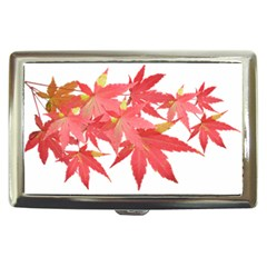 Leaves Maple Branch Autumn Fall Cigarette Money Cases by Sapixe