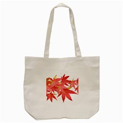 Leaves Maple Branch Autumn Fall Tote Bag (cream) by Sapixe