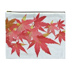 Leaves Maple Branch Autumn Fall Cosmetic Bag (xl) by Sapixe