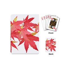 Leaves Maple Branch Autumn Fall Playing Cards (mini)  by Sapixe