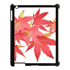 Leaves Maple Branch Autumn Fall Apple Ipad 3/4 Case (black) by Sapixe