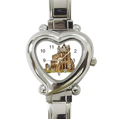 Ruin Monastery Abbey Gothic Whitby Heart Italian Charm Watch