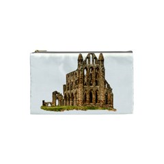 Ruin Monastery Abbey Gothic Whitby Cosmetic Bag (small)  by Sapixe