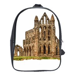 Ruin Monastery Abbey Gothic Whitby School Bag (large) by Sapixe