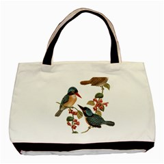 Bird Birds Branch Flowers Vintage Basic Tote Bag (two Sides) by Sapixe