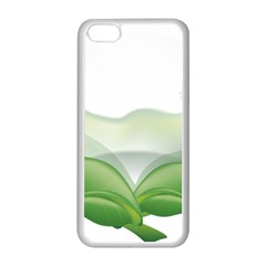 Pearl Drop Flower Plant Apple Iphone 5c Seamless Case (white)