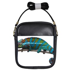 Reptile Lizard Animal Isolated Girls Sling Bags by Sapixe