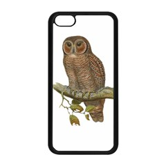 Bird Owl Animal Vintage Isolated Apple Iphone 5c Seamless Case (black) by Sapixe