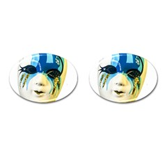 Porcelain Mask Minature Mask Cufflinks (oval)