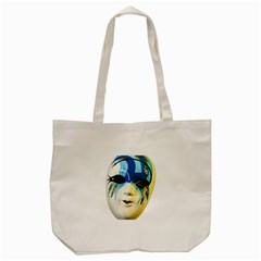 Porcelain Mask Minature Mask Tote Bag (cream)
