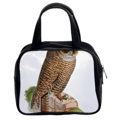 Bird Owl Animal Vintage Isolated Classic Handbags (2 Sides)