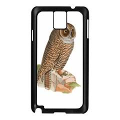 Bird Owl Animal Vintage Isolated Samsung Galaxy Note 3 N9005 Case (black)