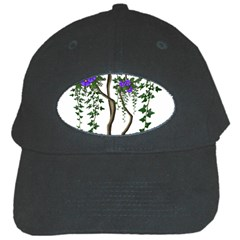 Image Cropped Tree With Flowers Tree Black Cap