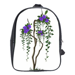 Image Cropped Tree With Flowers Tree School Bag (xl)