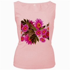 Daisies Flowers Arrangement Summer Women s Pink Tank Top by Sapixe