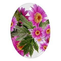 Daisies Flowers Arrangement Summer Oval Ornament (two Sides) by Sapixe