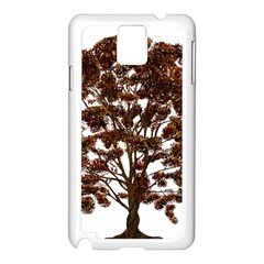Tree Vector Ornament Color Samsung Galaxy Note 3 N9005 Case (white)