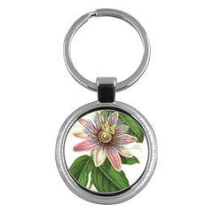 Passion Flower Flower Plant Blossom Key Chains (round)  by Sapixe