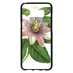 Passion Flower Flower Plant Blossom Samsung Galaxy S8 Plus Black Seamless Case by Sapixe