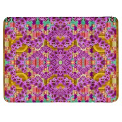 Fantasy Flower Festoon Garland Of Calm Samsung Galaxy Tab 7  P1000 Flip Case by pepitasart
