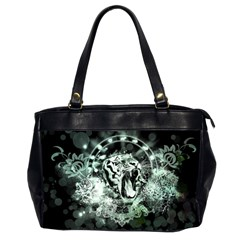 Awesome Tiger In Green And Black Office Handbags (2 Sides)  by FantasyWorld7