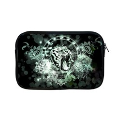 Awesome Tiger In Green And Black Apple Macbook Pro 13  Zipper Case by FantasyWorld7