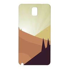 Sky Art Silhouette Panoramic Samsung Galaxy Note 3 N9005 Hardshell Back Case