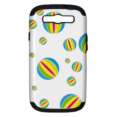 Balloon Ball District Colorful Samsung Galaxy S Iii Hardshell Case (pc+silicone) by Sapixe