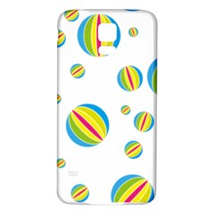 Balloon Ball District Colorful Samsung Galaxy S5 Back Case (white) by Sapixe