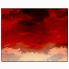 Flaming Skies Ominous Fire Clouds Canvas 8  X 10