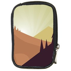 Sky Art Silhouette Panoramic Compact Camera Cases by Sapixe