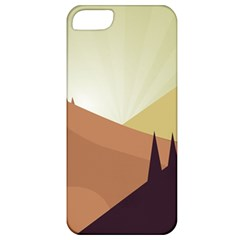 Sky Art Silhouette Panoramic Apple Iphone 5 Classic Hardshell Case
