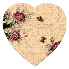 Flower Traditional Chinese Painting Jigsaw Puzzle (heart)