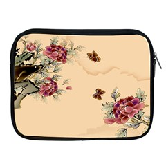 Flower Traditional Chinese Painting Apple Ipad 2/3/4 Zipper Cases