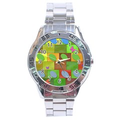 Easter Egg Happy Easter Colorful Stainless Steel Analogue Watch by Sapixe