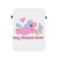 Long Distance Lover   Cute Unicorn Apple Ipad 2/3/4 Protective Soft Cases by Valentinaart