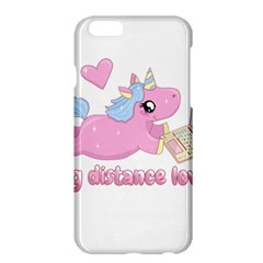 Long Distance Lover   Cute Unicorn Apple Iphone 6 Plus/6s Plus Hardshell Case by Valentinaart
