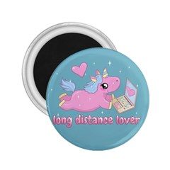 Long Distance Lover   Cute Unicorn 2 25  Magnets by Valentinaart