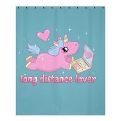 Long Distance Lover   Cute Unicorn Shower Curtain 60  X 72  (medium)  by Valentinaart