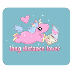 Long Distance Lover   Cute Unicorn Double Sided Flano Blanket (small)  by Valentinaart