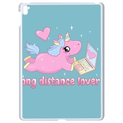 Long Distance Lover   Cute Unicorn Apple Ipad Pro 9 7   White Seamless Case by Valentinaart
