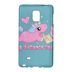 Long Distance Lover   Cute Unicorn Samsung Galaxy Note Edge Hardshell Case