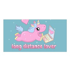 Long Distance Lover   Cute Unicorn Satin Shawl by Valentinaart