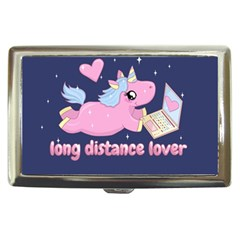 Long Distance Lover   Cute Unicorn Cigarette Money Cases by Valentinaart